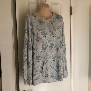 J.Jill soft sweatshirt Size Med floral print ExcCo